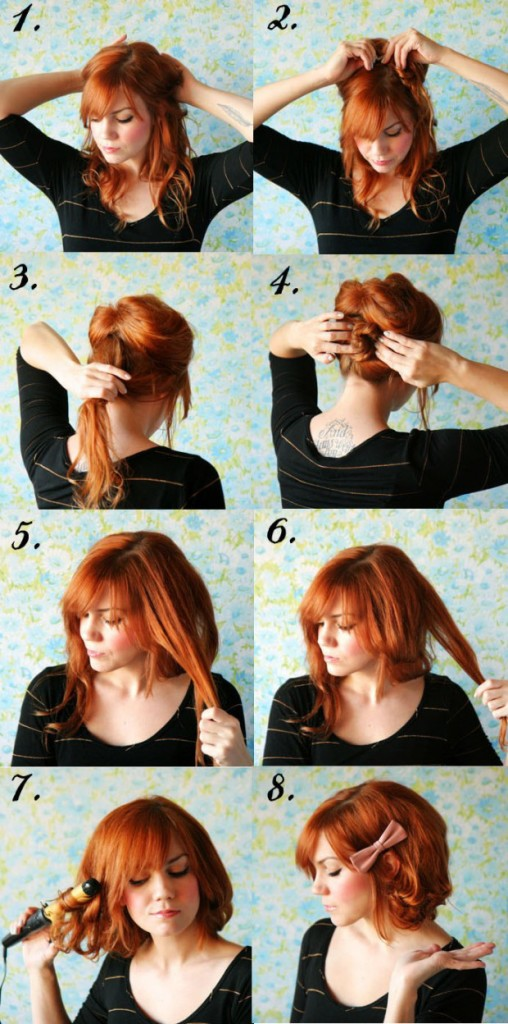 Прически своими руками на каре волосы фото