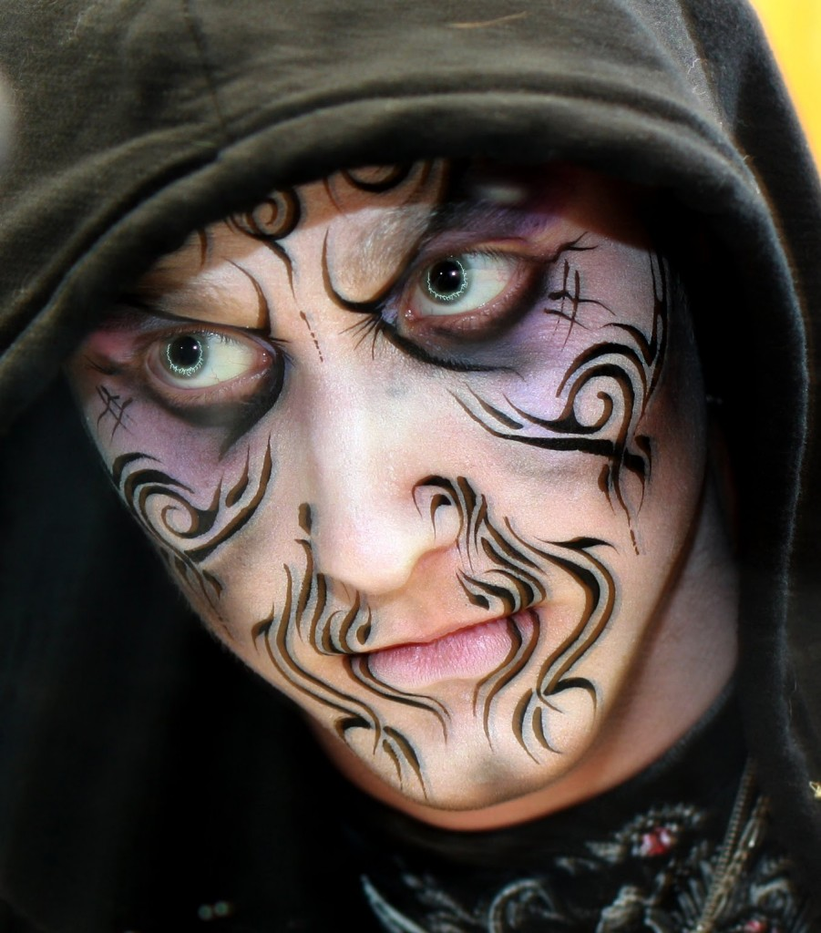 Witch Face Paint Designs For Halloween